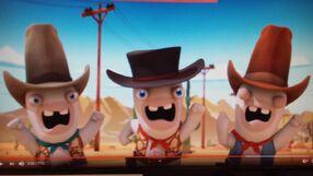 Three Cowboy Rabbids