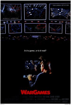 Poster for WarGames, the movie that an OASIS avatar is required to complete a Flicksync of in order to complete the First Gate