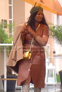 Garcelle-brown-leather-shirtdress