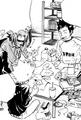 Yamamoto, Gokudera y Tsuna haciendo tareas