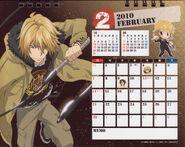 2010 calendar tabletop February
