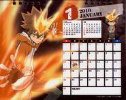 2010 calendar tabletop January