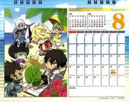 2011 calendar tabletop August