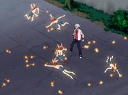 Tsuan apaga las bombas de Gokudera