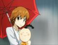 Kyoko and I-Pin Rainy Scene