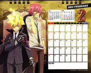 2012 calendar tabletop feb