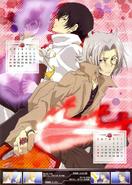 KHR 2013A Calendar Hibari & Gokudera