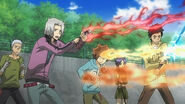 Vongola guardians' flame being sucked by verde