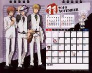 2010 calendar tabletop November