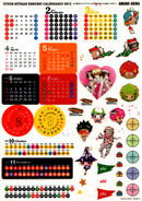 2012 calendar stickers 1