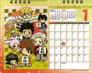 2011 calendar tabletop January