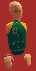 Green letter vest
