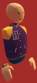 Purpulr letter vest