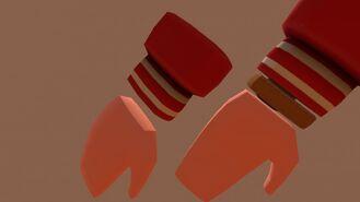 Gloves Letter Jacket Red
