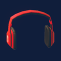 Notes Headphones (Red)