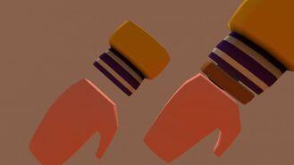 Gloves Letter Jacket Purple