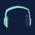 Notes Headphones (Neon Sky)