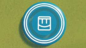 Frisbee Transparant Blue