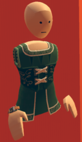 Green royale dress