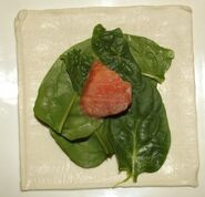 Borek met spinazie en zalm