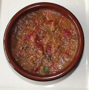 Auberginetapenade met tomaat