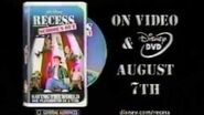 Disney's Recess School's Out VHS and DVD Release Ad (2001)