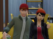 TJ and Spinelli - Sims 4