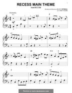 Recess Main Theme Music Sheet