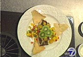 Baked Gingersnap-crusted Chilean Bass with Kiwi Lime Sauce