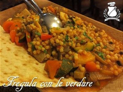 Fregola with vegetables