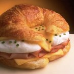 Egg and Ham-topped Croissant
