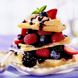 Berry Napoleons with Honey Lavender Cream