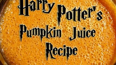 Pumpkin Juice Recipe from The Wizarding World of Harry Potter