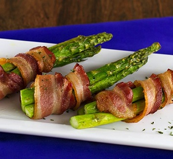 Roasted Asparagus Bundles and Bacon