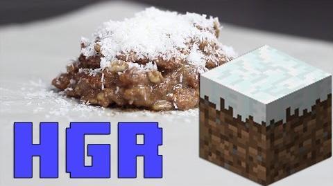 Minecraft Block Nut Cereal Snack - HGR Healthy Gaming Recipes