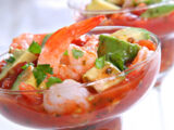 Spicy Shrimp Cocktail with Tomato and Cilantro