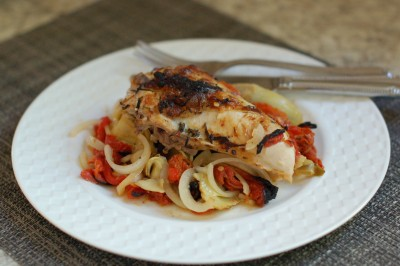 Chicken with Artichokes and Peppers