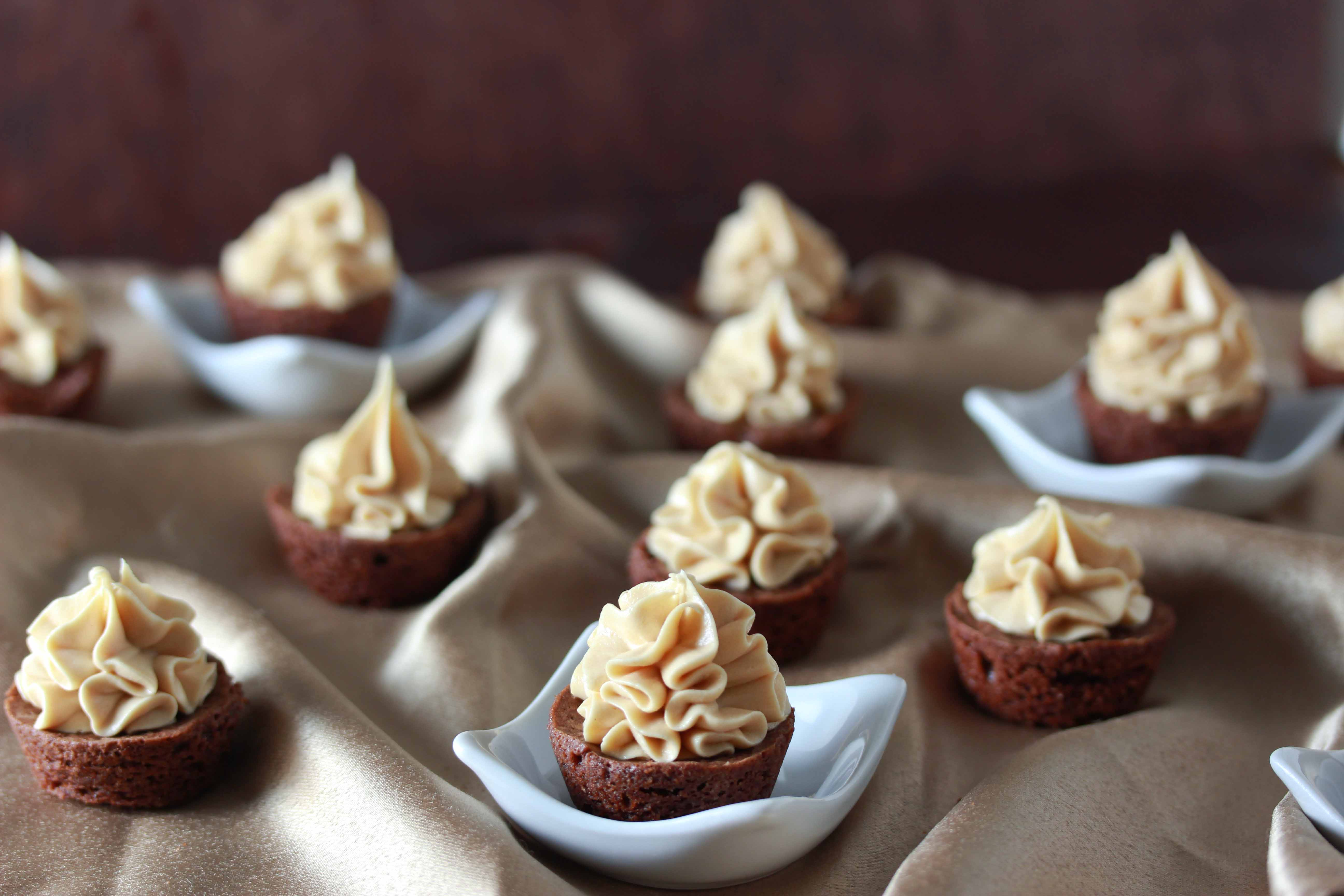 Brownie Bites with Magic Frosting