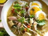 Singapore-Style Chicken and Noodle Soup