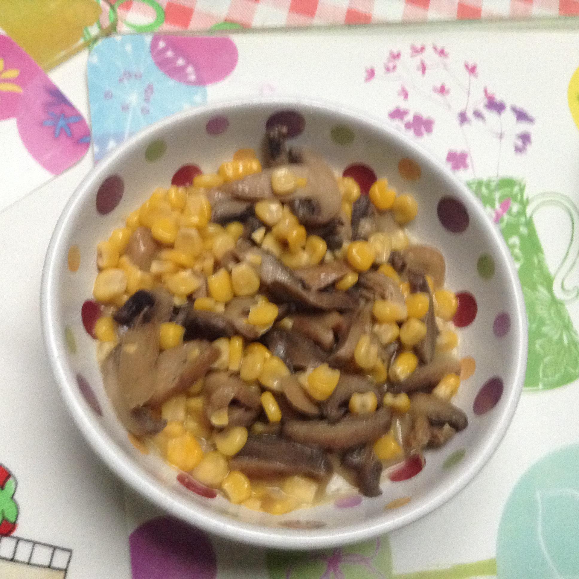 Sautéed Corn and Mushrooms