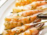 Skewered Garlic Butter Shrimp