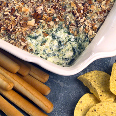 Pecan-crusted Artichoke and Cheese Spread