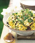 Asian Noodle Mushroom and Cabbage Salad
