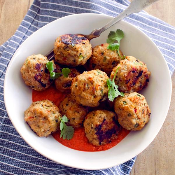 Thai Chicken Meatballs