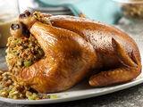 Roast Chicken with Sausage-Apple Stuffing