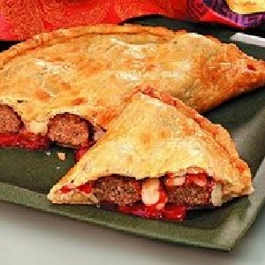 Meatball Calzones with Cheese and Herbs