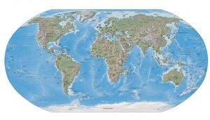 Robinson projection of Earth