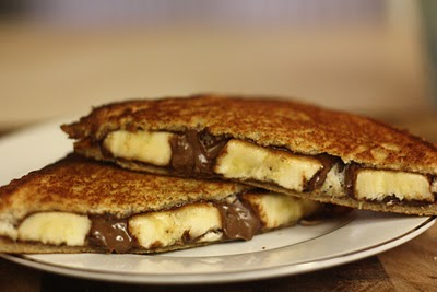 Grilled Banana and Carob Sandwich