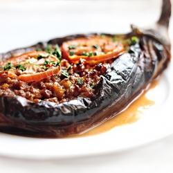 Middle Eastern Stuffed Eggplant