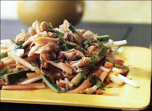 Daikon Radish with Chicken Korean-style